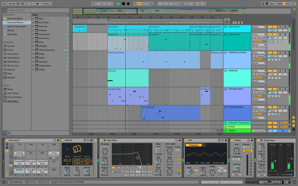 ableton live 10 techno